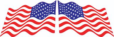 3in X 2in Mirrored Waving American Flag Stickers Stickertalk