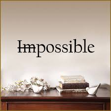 Art Quotes Letter Not Impossible Wall Sticker Bedroom Decoration Accessories Kids Room Nature Home Decor Wall Decoration Wall Stickers Aliexpress