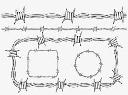 Barbed Fence Drawing Material Barbed Wire Line Drawing Transparent Png 1000x729 Free Download On Nicepng