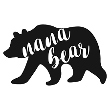 Nana Bear Decal Etsy