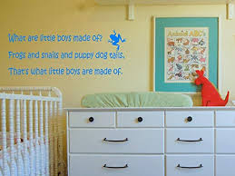 Amazon Com What Are Little Boys Made Of Vinyl Wall Decal Home Kitchen