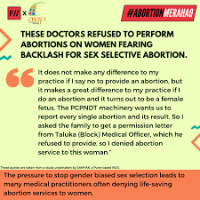 the denial of abortion services in in quotes from doctors