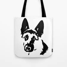 german shepherd dog gifts tote bag by