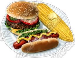 Burger Hotdog Corn Hamburger Food Grill Bbq Car Bumper Vinyl Sticker Decal 5 X4 Ebay