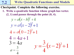 how do i write quadratic functions and