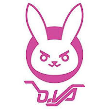 Sticker Overwatch D Va Logo Window Die Cut Vinyl Decal 5x3 J7855 Walmart Com Walmart Com