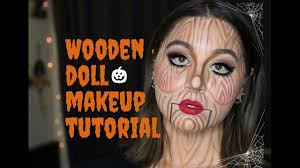 wooden doll makeup tutorial you