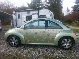 Car Truck Graphics Decals Vw Beetle Flower Magnetic Decal Pink Flowers Auto Parts And Vehicles Moonnepal Com