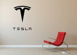 Tesla Auto Large Wall Art Wall Decal Car Vinyl Sa205 Ebay