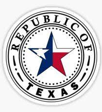 Texas The Republic Of Texas Sticker State Traditions