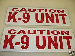 Red 6x18 Caution K9 Unit Magnetic Vehicle Signs 4 Etsy