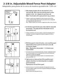 Yardlink 662831 Gray Metal Fence Wood Post Adaptor Chain Link Fence Installation Guide Manualzz