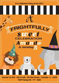 Halloween En El Zoo Invitaciones De Cumpleanos Para Imprimir Etsy