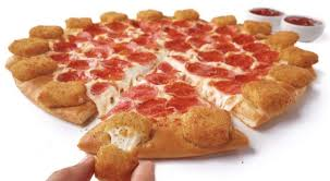 pizza hut mozzarella poppers pizza