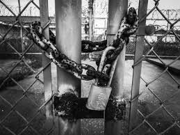 Free Images Fence Black And White Street Old Wire Rust Entrance Abandoned Empty Gate Chain Link Security Doorway Padlock Chains Prison Photograph Surreal Strange Closed Image Lock Jail Shape Locked Entry