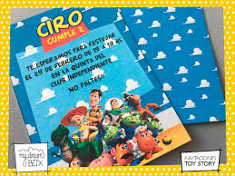 Tarjetas Invitacion Cumple Infantil Evento Toy Story Buzz 181