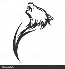Tribal Tattoo Wolves Tribal Tattoo Wolf Designs Stock Vector