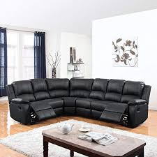 genuine leather sectional com