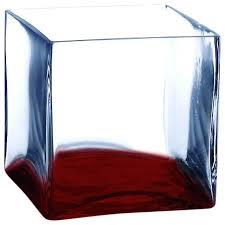 square glass vase 3 cube center piece
