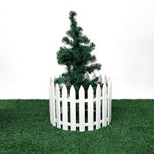12pcs Plastic Fence Decorations White Home Christmas Xmas Tree Ornaments Miniature Border Grass Lawn Edge Fence