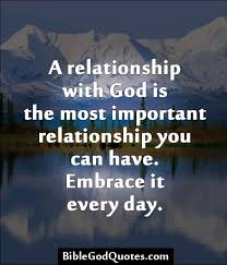 a relationship god is the most important relationship you can