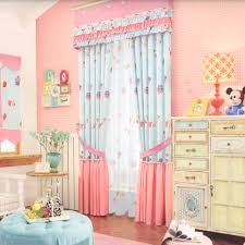 Cute Pink Blackout Curtains For Kids Room No Valance