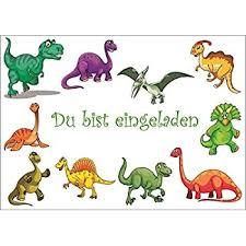 Fehlersuchbild für kinder zum ausdrucken. 10 Dinosaurier Einladungen Geburtstagseinladungen Kinder Madchen Jungen 10 Er Set Einladungskarten Zum Kindergeburtstag Oder Ins Museum 10729 Amazon De Burobedarf Schreibwaren