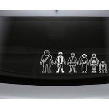 Nuh Uh Star Wars Family Decal Set Stick People Car Or Wall Vinyl Decal Stickers Star Wars Decal Family Decals Family Car Decals