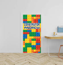 Amazon Com Lego Custom Name Nursery Wall Decal For Baby Rom Decorations Mural Wall Decal Sticker For Home Children S Bedroom R380 Wide 40 X94 Height Arts Crafts Sewing