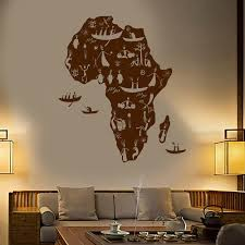 Africa Continent African Natives People Map Vinyl Wall Decal Home Decor Art Mural Removable Wall Stickers Wall Stickers Aliexpress