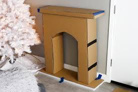cardboard holiday fireplace