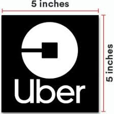 Acrylic 2019 Uber Sign 2 Pack 5 X5 Inches Window Decal With Super Strong Suction Cups Removable Signs For Uber Drivers Not A Sticker Ridesharegifts