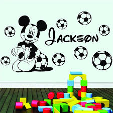 football mickey mouse with vinyl wall