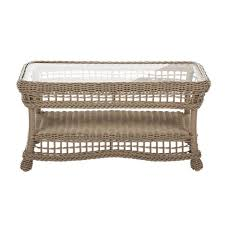 rectangular wicker outdoor coffee table