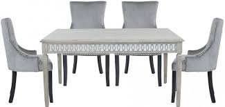 melville mirrored dining table and 6