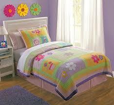 pink purple green fl girls bedding