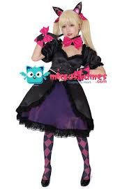 black cat cosplay costume dress