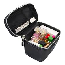 women s travel makeup bags black wash