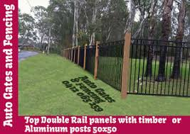 Double Rail Pool Fencing In Aluminium Black 2 4x1 2 High Certified To Aus Snd Ebay