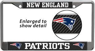 Amazon Com Stockdale New England Patriots Nfl Laser Chrome Metal License Plate Frame Tag Holder Automotive
