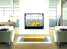 sided fireplace gas fireplace