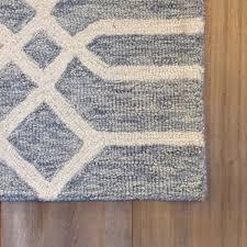 belfort blue gray tufted wool rug the