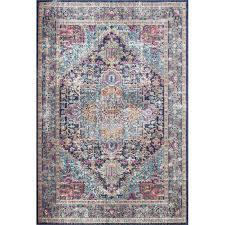 ashburn dark blue area rug office in