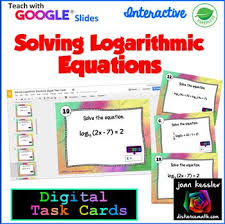 solving logarithmic equations with