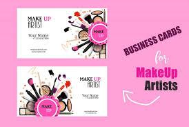 freelance makeup artist business card