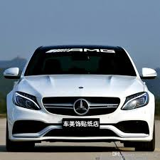 2020 Amg Front Rear Windshield Banner Decal Vinyl Car Stickers For Mercedes Benz Auto Window Exterior Diy Decoration From Care4urcar 9 05 Dhgate Com