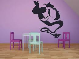 Genie Aladdin Flying Carpet Disney Decal Removable Wall Sticker Home Decor Art