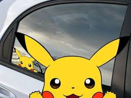 Pokemon Pikachu Anime Reusable Static Window Cling Car Decal 003 Pikachu Pokemon Window Clings