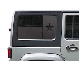 Amazon Com State Of Texas Flag Decals For Jeep Wrangler Jku 4 Door In Matte Black For Hardtop 3rd Windows Fits 2009 2020 Hs29a Handmade