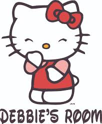 Hello Kitty Cute Laugh Cartoon Customized Wall Decal Custom Vinyl Wall Art Personalized Name Baby Girls Boys Kids Bedroom Wall Decal Room Decor Wall Stickers Decoration Size 30x27 Inch